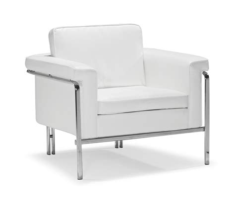 Modern White Leatherette Sofa Set Single Leather Sofas White Sofa Chair