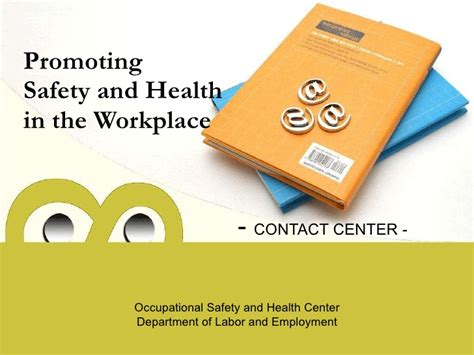 health and safety powerpoint templates promoting safety and health in the workplace ppt