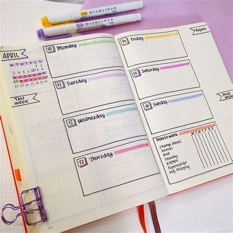 layout management journal 15 of the best weekly bullet journal layouts on the