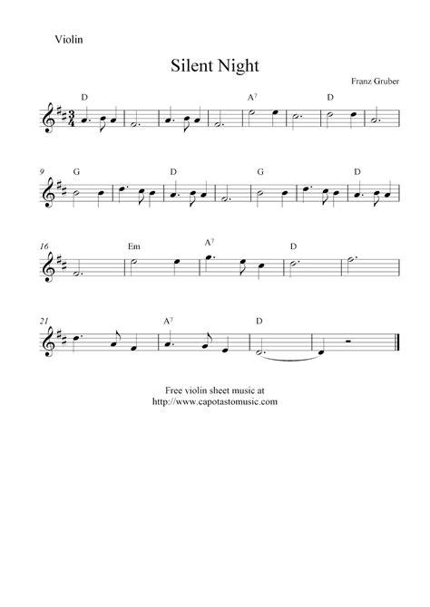printable sheet music silent night silent night free christmas violin sheet music notes