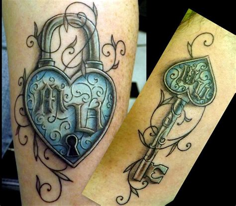 heart and key tattoo designs for couples 80 matching ideas for couples together forever