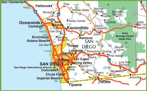 san diego on map of usa san diego area map