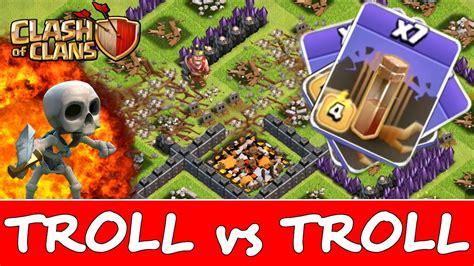 earthquake coc clash of clans 11 earthquake spells vs troll base