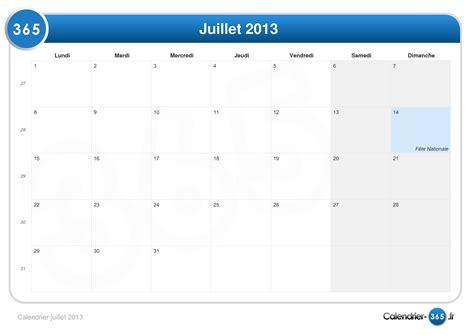 Calendrier Juillet Aout 2013 Calendrier Juillet 2013