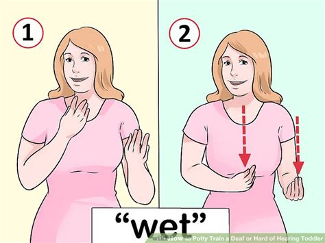 how to potty a deaf 3 ways to potty a deaf or of hearing toddler wikihow