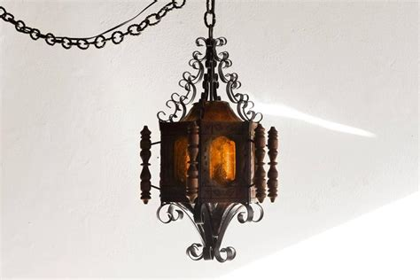 Mexican Chandelier 1960s Revival Or Mexican Pendent Light Wrought Iron At 1stdibs