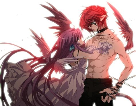 cute anime couples angels anime boy and anime girl as angel not sure if this is