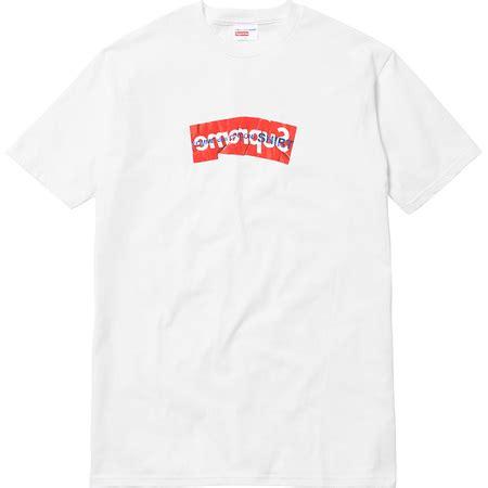 Kaos T Shirt Supreme X B A R T S I M P S O N S Letter White supreme new york ss 2017 week 8 comme des gar 231 ons