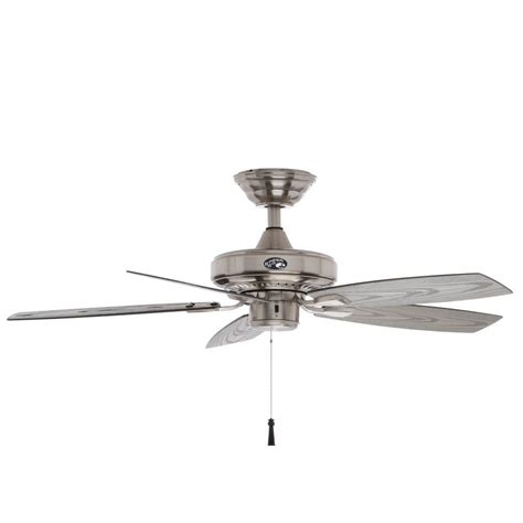 42 outdoor ceiling fan hton bay gazebo ii 42 in indoor outdoor brushed nickel