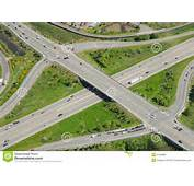 Highway Overpass And Intersection Royalty Free Stock Image