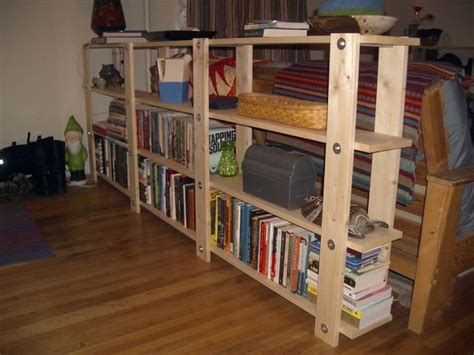 cheap easy low waste bookshelf plans