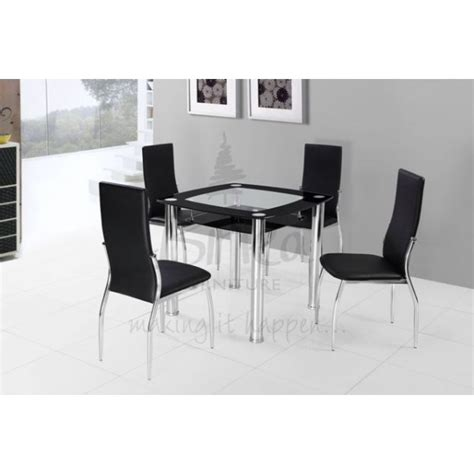 Black Glass Dining Table Set Cheap Birlea Croydon Black Glass Dining Table Set For Sale