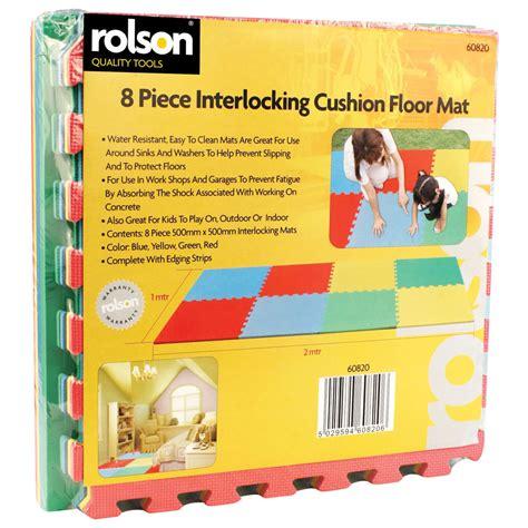 Rolson Floor Mat by Rolson Interlocking Cushioned Floor Mats Shock Absorbing
