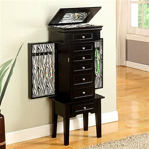 large black jewelry armoire black jewelry armoire big lots pictures reference