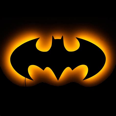 Kaos Superman Logo Klasik Glow In The Heroes Dc Logo L2k lighted batman logo wall lighted wall and symbolic lights 20 quot w x 9 5 quot h