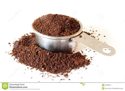 Ground Coffee In Measuring Cup Stock Photography   Image: 12568612