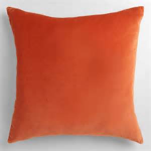 orange velvet throw pillow world market