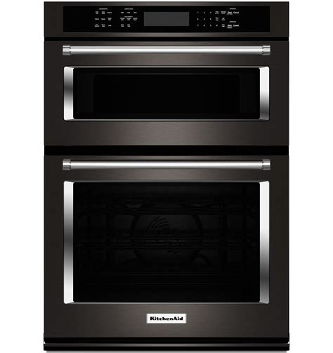 kitchenaid  black stainless wall oven koceebs