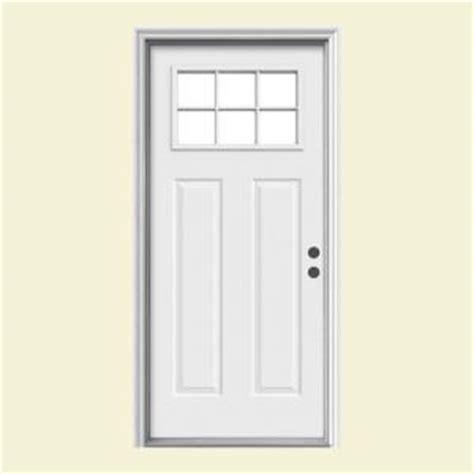 32 Exterior Door With Window Jeld Wen 32 In X 80 In 6 Lite Craftsman Primed Steel Prehung Left Inswing Front Door W