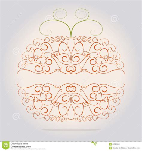 chic floral orange and thanksgiving place cards template ornamental decorative orange pumpkin stock vector image