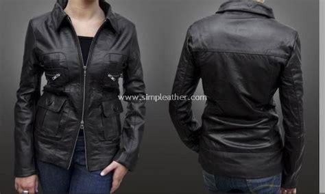 Jaket Semi Kulit Wanita Simple Rib jaket kulit wanita formal jas blazer model wz102