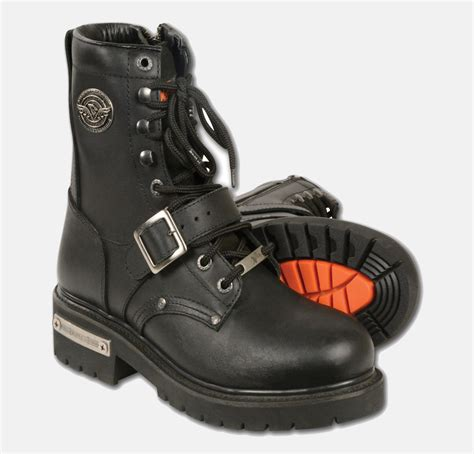 best bike boots s motorbike leather buckled lace to toe boot