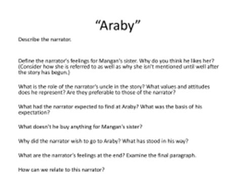 araby thesis statement araby epiphany essay formatessay web fc2