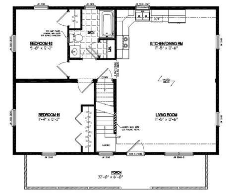 26 X 36 House Plans Certified Homes Mountaineer Deluxe Certified Home Floor