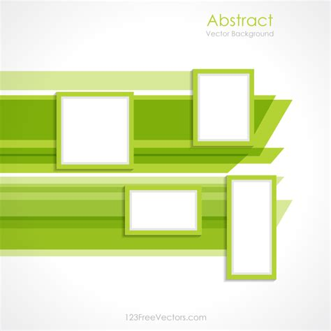 layout vector download abstract green rectangle background vector design free