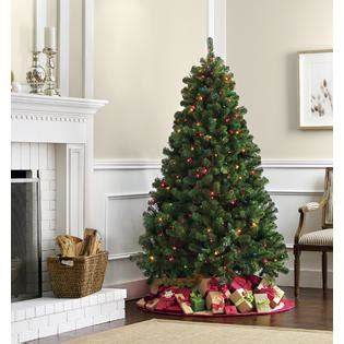 trim a home brilliant tree buren pine tree with 500 multi lights 6 5 kmart