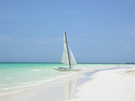 Catok Codos yacht near the shore at the resort of cayo coco cuba