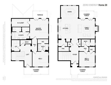 net zero home 2300 sf floor plans future home