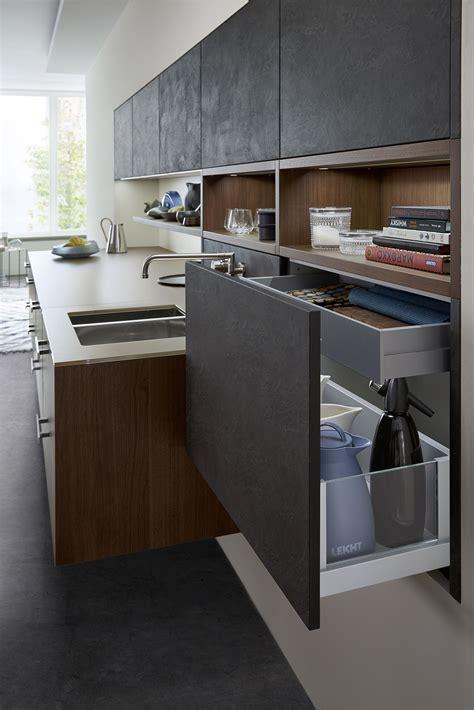 leicht kitchen cabinets trend alert black concrete topos kitchen cabinets from leicht