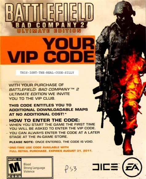 Bd Ps3 Used Original Batlefield 2 free battlefield bad company 2 vip code for xbox 360 and ps3 rewards points listia
