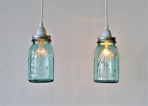 2 Mason Jar Pendant Lights Pair Of Hanging Pendant Ls With Jar Light Pendant