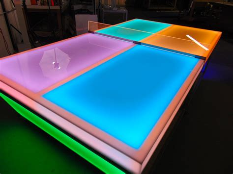 light up ping pong table led ping pong table arcade rental