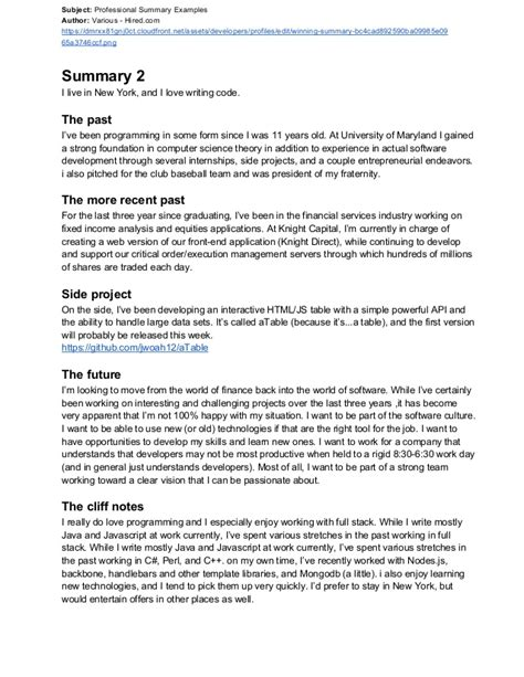 Resume Professional Summary 10 How To Write An Amazing Resume Professional Summary Statement Writing Resume Sle