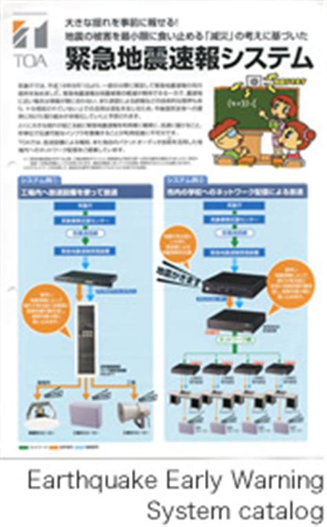 earthquake early warning system japan from 2000 toa history toa corporation