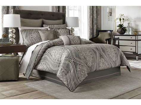 croscill amadeo comforter set queen smoke zappos com