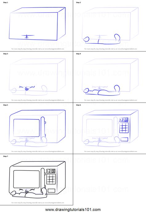 how to microwave a how to draw zappy microwave from shopkins printable step by step drawing sheet