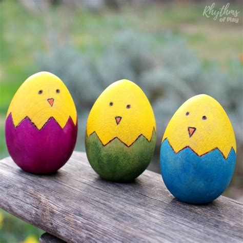 Easter Easter Eggs Wood Pattern Diy Easter Wooden Egg Craft Rhythms Of Play