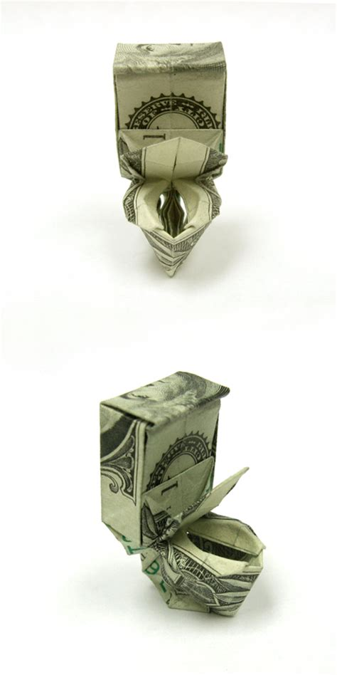 Money Origami Toilet - dollar toilet bowl by orudorumagi11 on deviantart