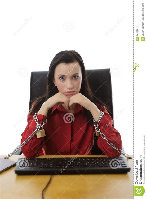 Chained To The Desk by Chain To The Desk Stock Image Image Of Desk Worker 44127621