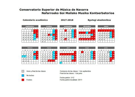 Calend Acad Mico Ufsc 2018 Calendario 2018 Navarra 28 Images Calendario Laboral