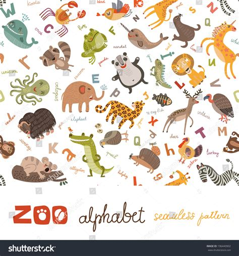 design pattern for zoo seamless pattern abc zoo stock vector 196440902 shutterstock