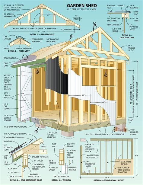 build   garden shed  pm plans cuarto de