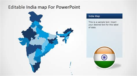 India Map Ppt Template Editable India Map Template For Powerpoint Slidemodel