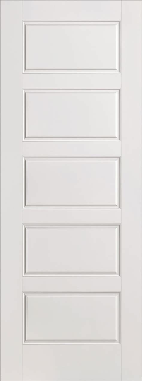Horizontal 5 Panel Smooth White Primed Door White Moulded Interior Doors