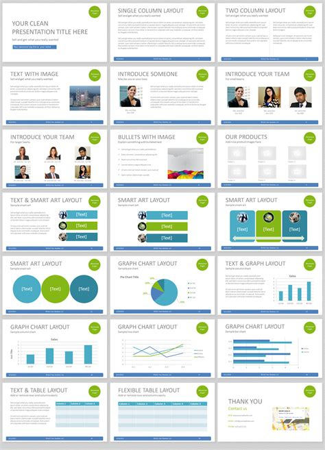 Simple Powerpoint Template With Clean And Elegant Easy To Presentation Power Point