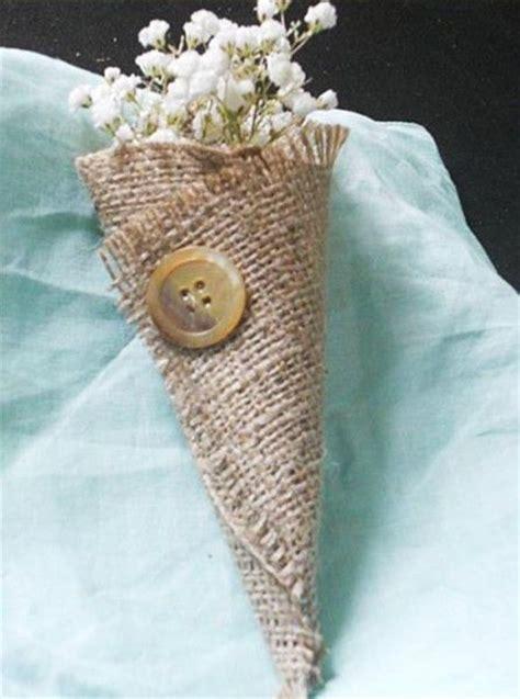 ladario rustico fai da te coni portariso rustici in juta wedding decorazioni e